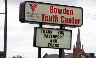 Bowden Thank You Davenport Evans Sign