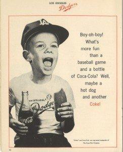 1960s Los Angeles Dodgers Program