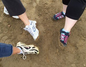 muddy shoes- Habitat for Humanity