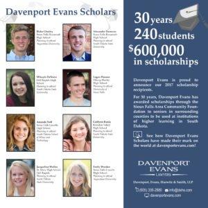 Davenport Evans Scholarship Announcement 2017