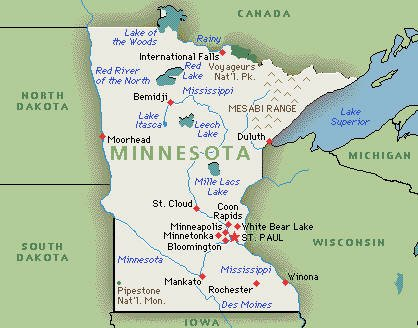 Summary Of Primary Legislative Changes To The Minnesota - State of minnesota map