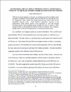 Terry N. Prendergast South Dakota Law Review Article Page