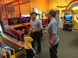Steven Prendergast and friends at the Arcade Bash for Autism 2017