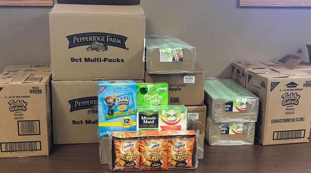 80 Kids' Snack Packs for 80 Years, Family Visitation Center
