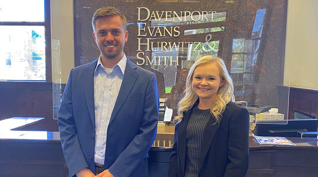 Davenport Evans Welcomes 2021 Summer Associates Kober and Leddy